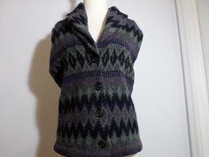 Lauren Ralph Lauren 100% Lambswool Shawl Collar Sweater Vest Size M Green Label #RalphLauren