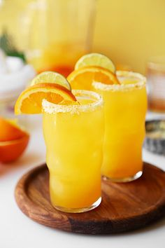 Good Morning Margaritas are the perfect breakfast cocktail. Fresh squeezed oj, tequila, grand marnier and lime juice! Brunch has never tasted so good! Breakfast Cocktail, Grand Marnier, Perfect Breakfast, Refreshing Drinks, Lime Juice, Tequila, Candid, Good Morning, Brunch