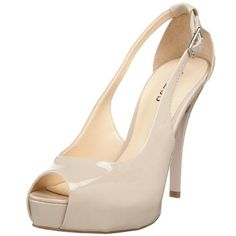GUESS Women's Hondo3 Open-Toe Pump. I have these! So comfortable and look great with everything!