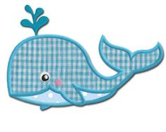 Whale Applique Design by Embroidershoppe on Etsy Embroidery Shop, Machine Embroidery Applique, Applique Templates, Applique Designs, Cot Quilt, Quilts, Baby Art Crafts, Diy Crafts, Baby Whale