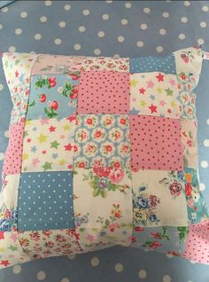 Cath kidston fabric patchwork cushion cover