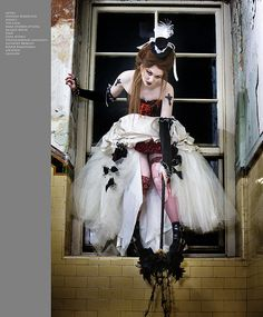 Gothic Wedding Gown - Too trashy for me but there are some elements I like.