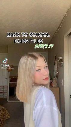 Cute Hairstyles For Teens, Cute Simple Hairstyles, Back To School Hairstyles, Teen Hairstyles, Ponytail Hairstyles, Hair Tips Video, Hair Videos, Short Hair Updo, Curly Hair Styles