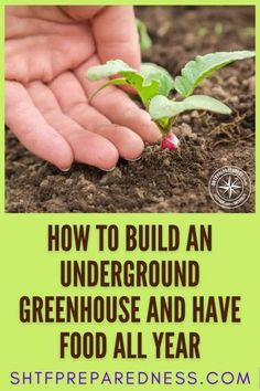 Do you want to have a steady supply of food all year round? You can get that with an underground greenhouse. This greenhouse with a twist is perfect in emergencies, and serious preppers can't get enough of the idea! Do your research and check out this post by SHTF Preparedness to learn more now. #prepping #greenhouse #undergroundgreenhouse #bestundergroundgreenhouse