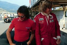 Barry Sheene & James Hunt