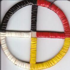 quilled medicine wheel