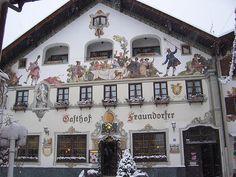 towns in germany | German Germany Beer Stein Mug Garmisch Partenkirchen Germany Ski Town ...
