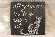 Cat String Art by OakRoadDesigns on Etsy