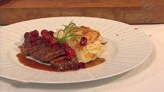Reinsdyr med fløtegratinerte poteter Steak, Beef, Food, Meat, Meals, Ox, Yemek, Eten, Steaks