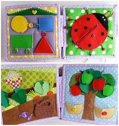 DIY Ideas y patrones de libros de estimulacion para bebes