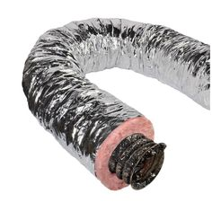 12 in. x 25 ft. Insulated Flexible Duct R6 Silver Jacket, $50