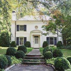 """Cover Me in Ivy 🌿 on Instagram: """"An Atlanta home loved by so many! The octagonal window and little wreaths on the shutters make it extra special 🌿#CharmingHomesATL"""""""