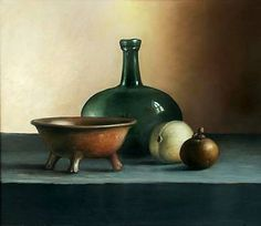 Painting: Still life with pottery Jos van Riswick