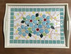 Image result for how to mosaic a wooden tray