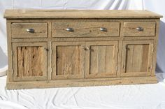 Your Custom Made Rustic Barn Wood Entertainment Center, Vanity, Credenza Or…