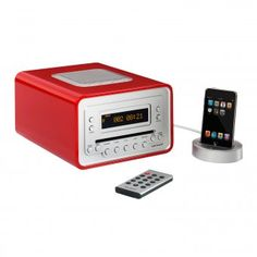 #entertainment #gadgets #gadget #men #technology #design #gifts Cubo – Design Radio/CD-Player von sonoro mit Weckfunktion. Cubo – design radio/CD player with alarm clock