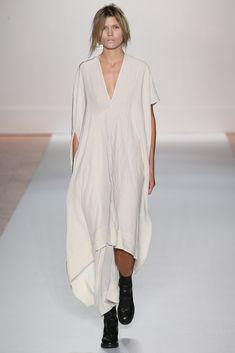 Long v neck dress