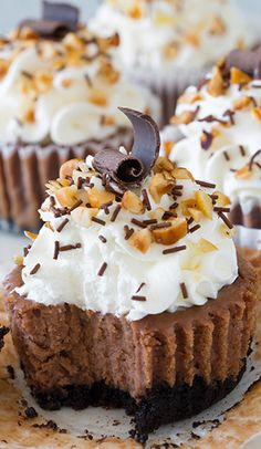 Nutella Cheesecake Cupcakes Recipe - (cookingclassy)