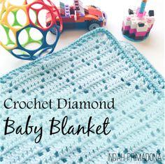 Primadona's Notes: Crochet Diamond Baby Blanket