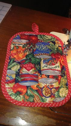 canned goods & vegetables pot holder kitsch quality by CarmenSense  https://www.etsy.com/listing/203483079/canned-goods-vegetables-pot-holder?ref=sr_gallery_42&ga_search_query=pot+holders&ga_page=45&ga_search_type=all&ga_view_type=gallery
