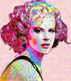 "Saatchi Art Artist Johnlijo  Bluefish; Collage, ""Grace of Monaco Abstract Collage"" #art"