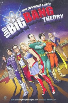 The Big Bang Theory comic book superhero look