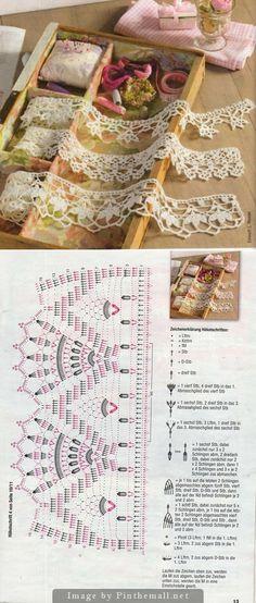 crochet edging ༺✿ƬⱤღ http://www.pinterest.com/teretegui/✿༻