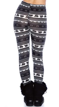 Black and Navy Nordic Pattern Leggings, Winter Leggings, Leggings with Snowflakes Winter Leggings, Black Leggings, Pattern Leggings, Snowflake Pattern, Black And Navy, Snowflakes, Winter Outfits, Sweatpants, My Style