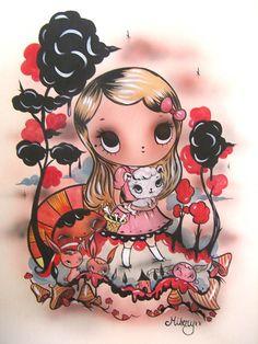 Tanja Thompson aka Misery NZ Artist Kiwiana, Pictures To Draw, Cartoon Styles, Art Forms, New Art, Illustration Art, Illustrations, Graphic Art, Graffiti