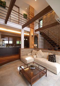 KTNハウジングギャラリーin喜々津 ケンコーホーム展示場 Home Room Design, Interior Design Living Room, Interior Stairs, Interior And Exterior, Casa Loft, Cozy Room, Japanese House, Modern House Design, Luxury Homes