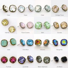 Everyone needs a little daily sparkle in their favorite color. What can better fill the void and be easier to wear than colorful crystal stud earrings? These go to basic earrings can be popped on as you run out the door and & abracadabra; you just elevated youre feeling great quotient!