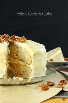 Italian Cream Cake with Buttercream Frosting recipe via callmepmc.com easy desserts