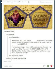 harry's chocolate frog, bit of a tosser. God I love Harry Potter Harry Potter Jokes, Harry Potter Fandom, Drarry, No Muggles, Chocolate Frog, Chocolate Card, Yer A Wizard Harry, Harry Potter Universal, Mischief Managed