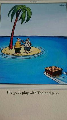 """The Far Side"" by Gary Larson. Funny Cartoon Memes, Funny Nurse Quotes, Nurse Humor, Funny Comics, Gary Larson Comics, Gary Larson Cartoons, Far Side Cartoons, Far Side Comics, Christmas Cartoons"