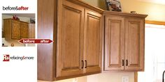 Before and After Pictures Refacing Cabinets   cabinet refacing - refacing&more before and after gallery