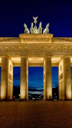 Brandenburg Gate, Berlin - Probably the most majestic of the historical sites in Berlin, the late 18th century Brandenburg Gate was originally built as the royal city gate and crowned with a sculpture of the winged goddess of victory steering a chariot.