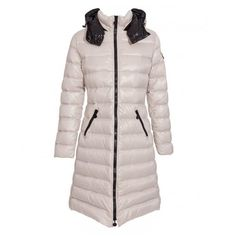 Women Moncler White Lightweight Long Puffer Parka
