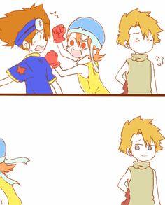 Taichi Yagami & Sora Takenouchi & Yamato Ishida