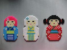 Kokeshi hama beads by Le blog d Axelle
