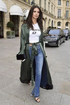 cinque silk coat | streetstyle paris fashion week 2017