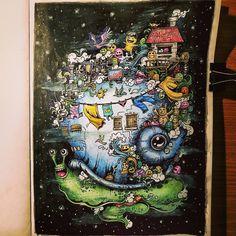 Doodle Chaos In Sepia Doodlechaos Adultcolouring Relax Prisma