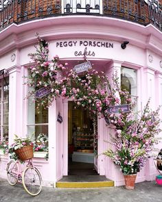 There a few things better than heading for a bottomless brunch on a lazy weekend morning, with coconut french toast,... Colourful Buildings, Shop Fronts, Fresh Flowers, Romantic Flowers, Garden Paths, London Cake, Outside Patio, Floral Arrangements, Words Of Encouragement