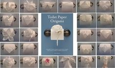 ways to fold toilet paper maybe for the guest bathroom. You know, when you have all that time to do so :-)