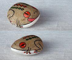 QQ249635143石趣部落原创手绘石头 蛙