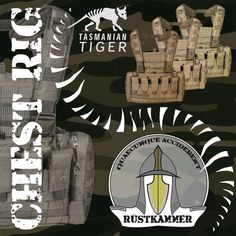 Tasmanian Tiger, Rigs, Military, Poster, Tactical Gear, Tools, First Aid, Army, Military Man