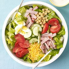 """You'll understand why we call this #salad """"super"""" with the first bite #DinnersUnder500Calories"""
