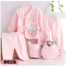 >> Click to Buy << Baby suit 2017 New Newborn set Baby Cotton Underwear Sets Newborn  Baby cartoon bear Suits Baby Clothing 5 pcs/set #Affiliate
