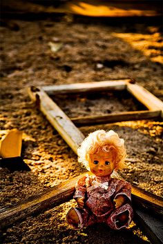 A Lost Toy by red321. Evidence of abandonment, that there was once a life in this area which has long been forgotten.