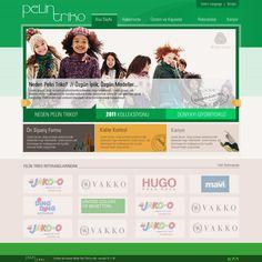 pelin triko textile web design