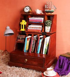 Buy Munimji Solid Wood Writing Desk in Honey Oak Finish by Mudramark Online - Indian Ethnic Study Tables - Tables - Furniture - Pepperfry Product Study Tables, Indian Home Interior, Ethnic Home Decor, Balance Design, Laptop Table, Wood Desk, Writing Desk, Indian Ethnic, Solid Wood